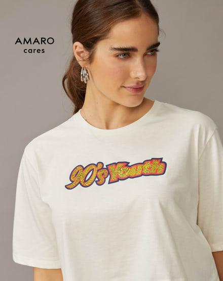 T-SHIRT CROPPED 90'S YOUTH
