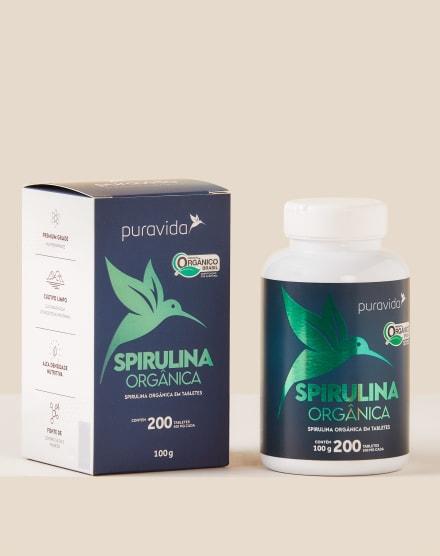 PURAVIDA SPIRULINA PREMIUM 200 TABLETES - 100G