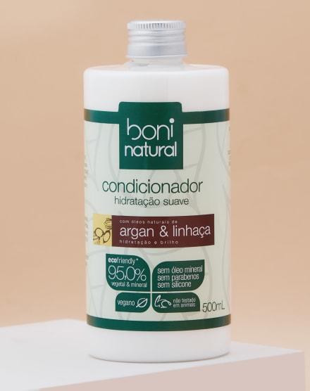 BONI NATURAL CONDICIONADOR NATURAL E VEGANO COM ARGAN E LINHAÇA - 500ML