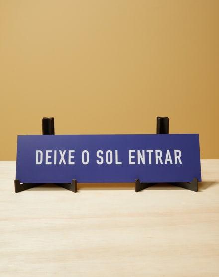 PLACA DECORATIVA DE MADEIRA 10,5 CM x 40 CM
