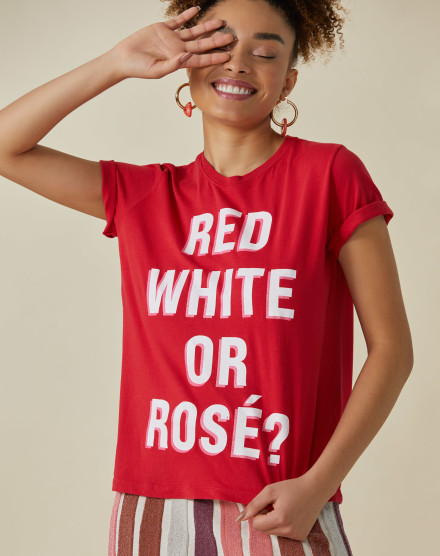T-SHIRT RED, WHITE OR ROSÉ