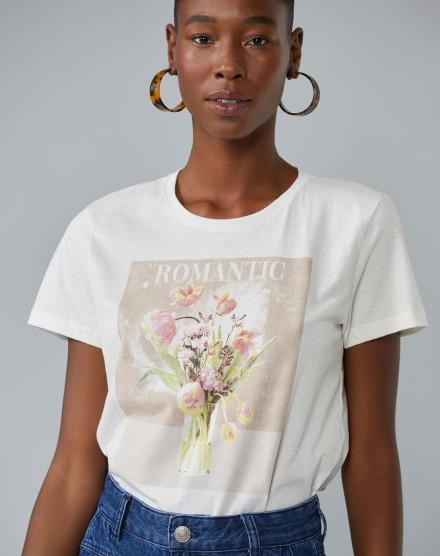 T-SHIRT ROMANTIC FLOWERS