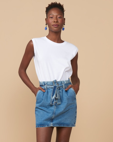 MINI SAIA JEANS CLOCHARD