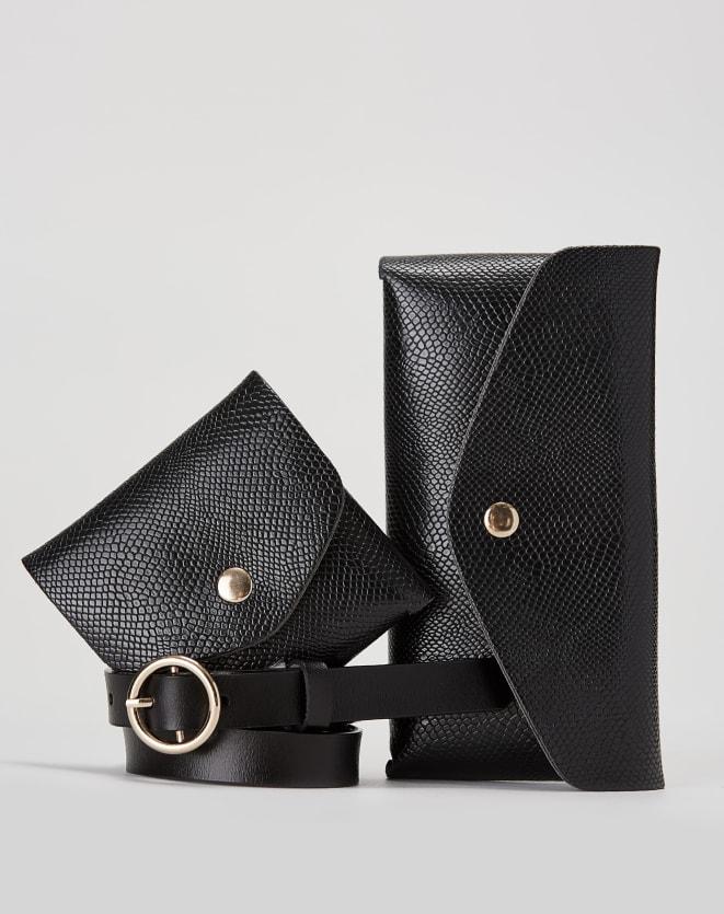CINTO COURO DOUBLE BAGS