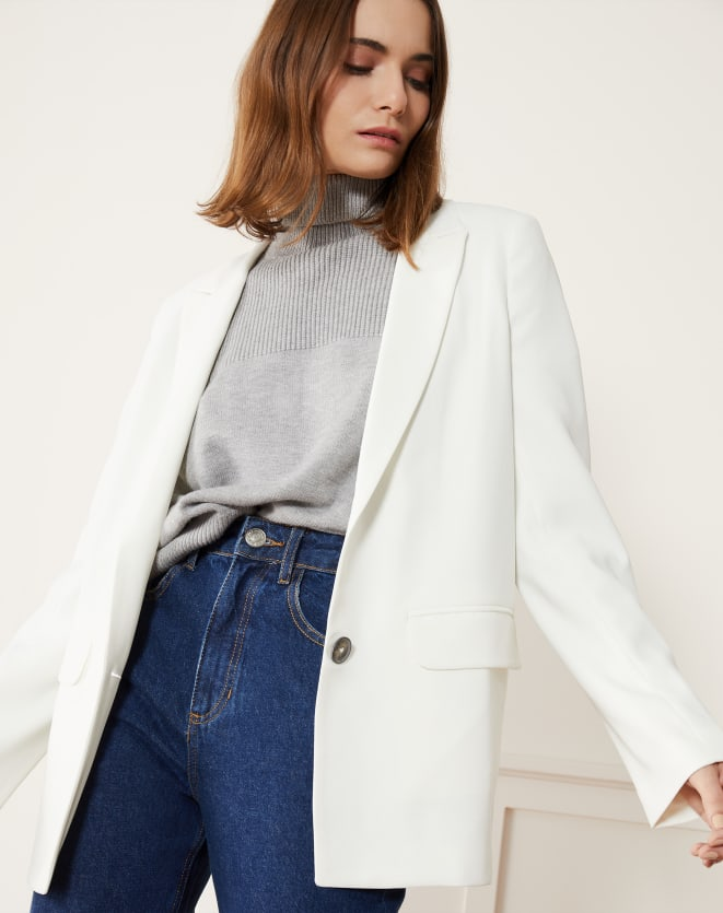 BLAZER FASHION SUMMER ALONGADO