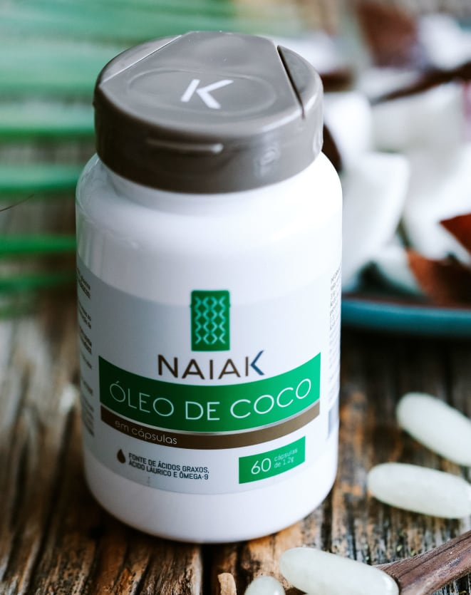 NAIAK ÓLEO DE COCO - 60 CÁPS