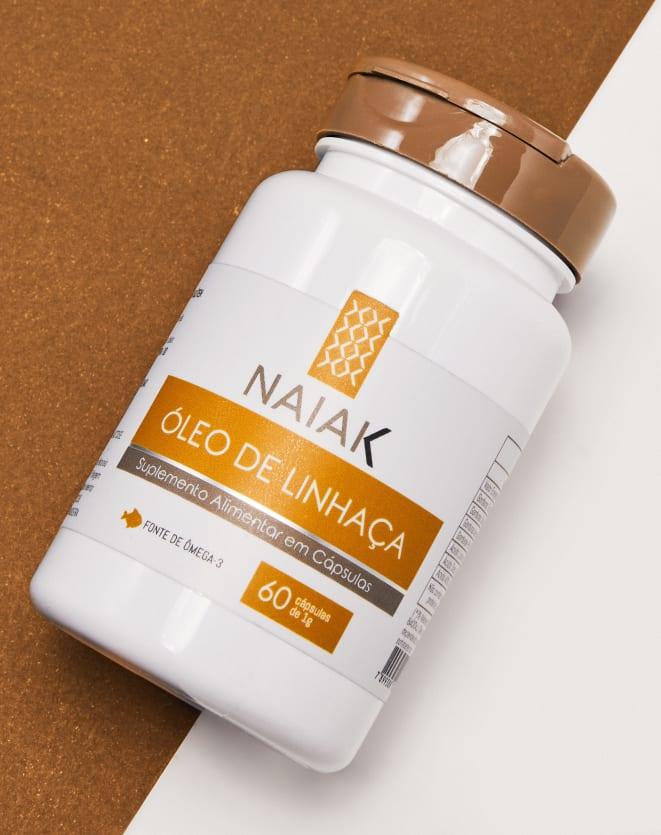 NAIAK ÓLEO DE LINHAÇA - 60 CÁPS
