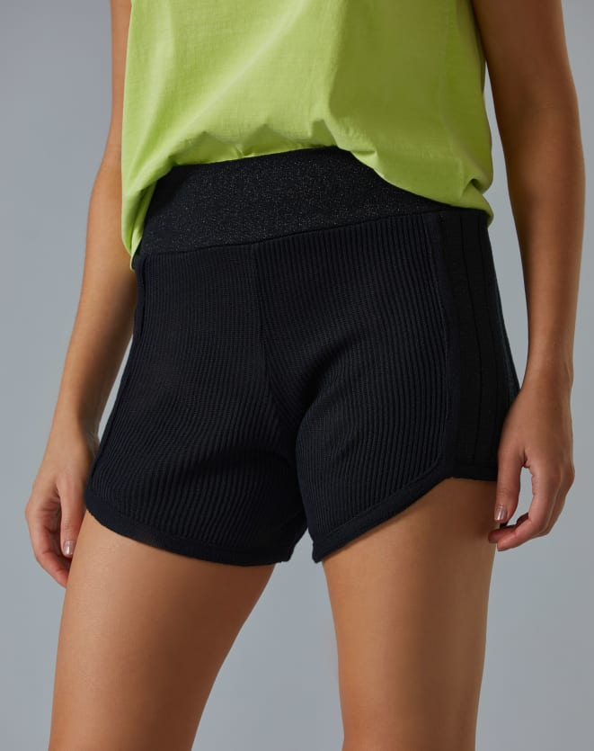 SHORTS TRICOT LATERAL LUREX