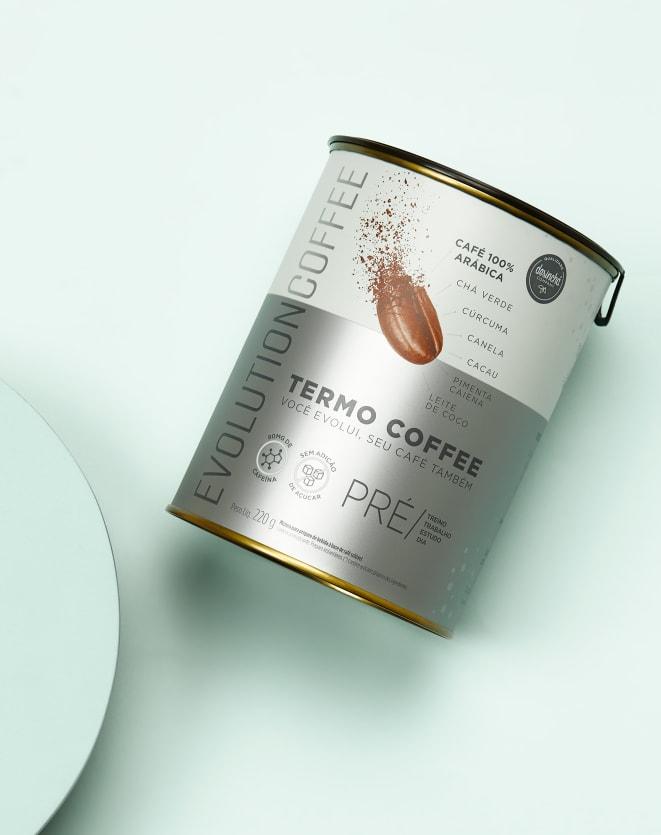EVOLUTION COFFEE BEBIDA TERMOGÊNICA LATA - 220G