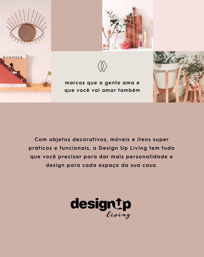DESIGN UP LIVING CAPA DE ALMOFADA 42X42 VELLUTO MÃOS MARROM