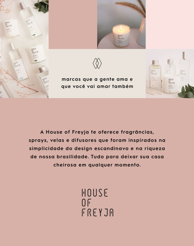 HOUSE OF FREYJA VELA PERFUMADA COLEÇÃO BIOMAS 170 G
