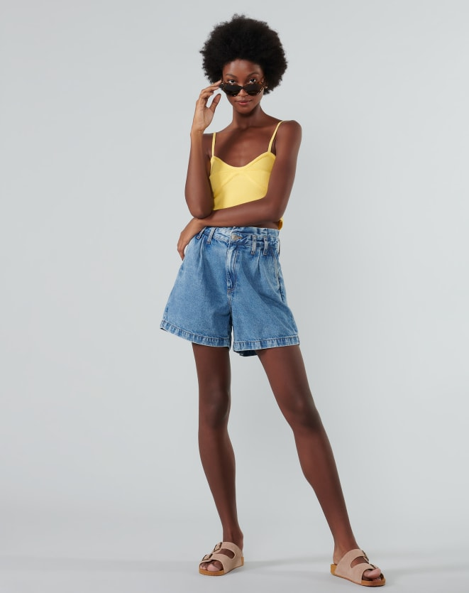 TOP CROPPED TRICOT CANELADO