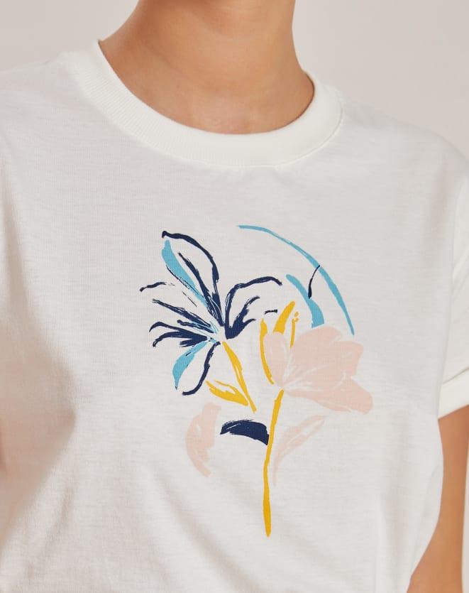 T-SHIRT REGULAR ARTSY FLOWER