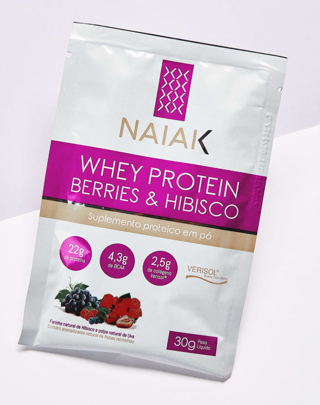 NAIAK WHEY PROTEIN BERRIES & HIBISCO SACHÊ - 30G