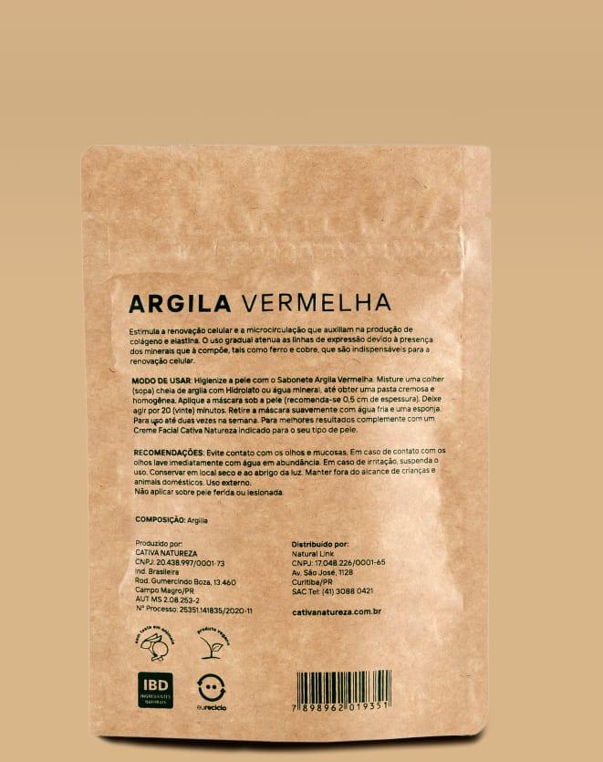 CATIVA NATUREZA MÁSCARA FACIAL DE ARGILA VERMELHA