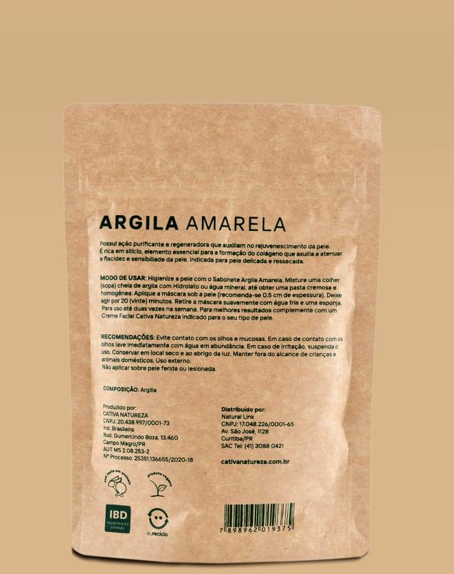 CATIVA NATUREZA MÁSCARA FACIAL DE ARGILA AMARELA