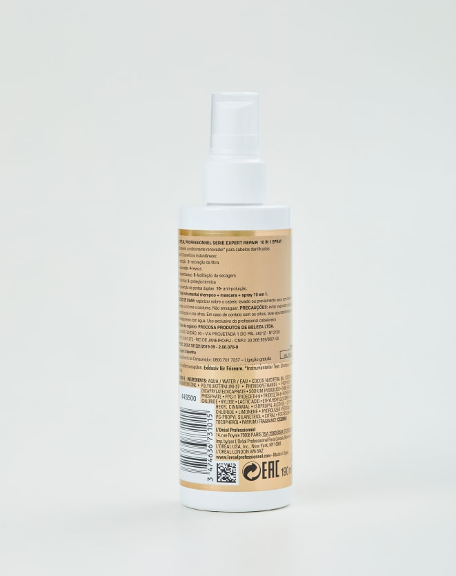 L'OREAL PROFESSIONNEL LEAVE-IN SERIE EXPERT ABSOLUT REPAIR GOLD QUINOA + PROTEIN 10 IN 1 - 190ML