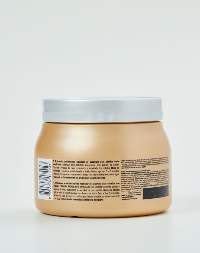 L'ORÉAL PROFESSIONNEL MÁSCARA SERIE EXPERT ABSOLUT REPAIR GOLD QUINOA + PROTEIN - 500G