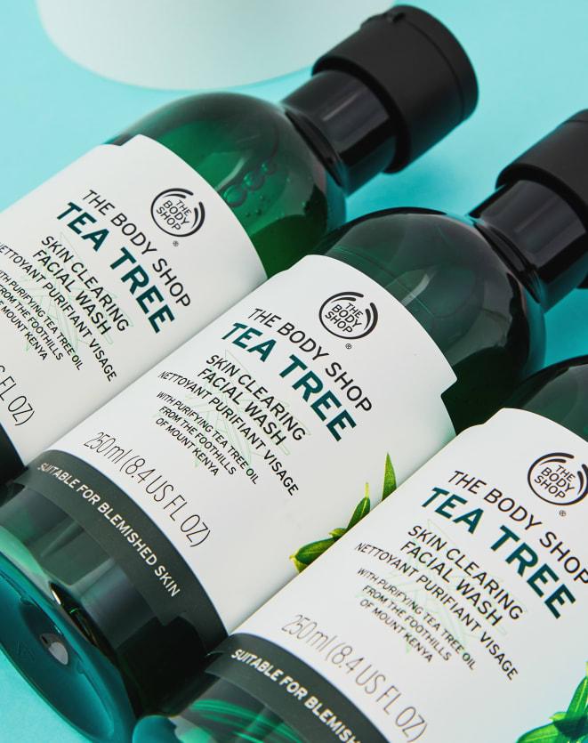 THE BODY SHOP GEL DE LIMPEZA FACIAL TEA TREE - 250ML
