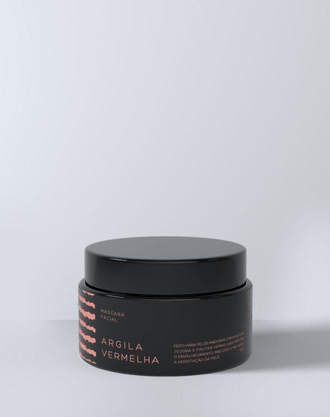 BERGAMIA MÁSCARA FACIAL DE ARGILA VERMELHA - 100G