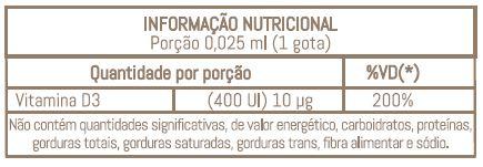 NAIAK VITAMINA D3 400UI (GOTAS) - 20ML