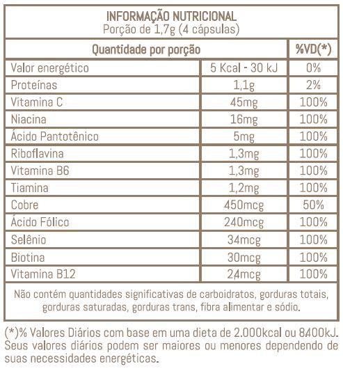 NAIAK VMC - SUPLEMENTO PARA UNHAS, PELE E CABELO - 120 CÁPS