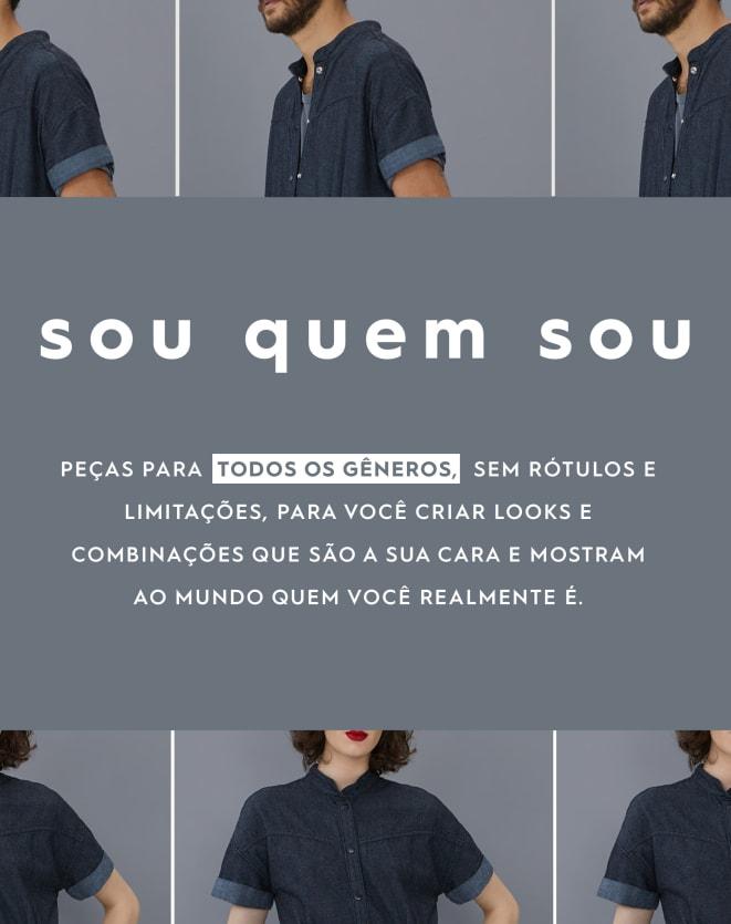 CALÇA RETA COM BOLSO