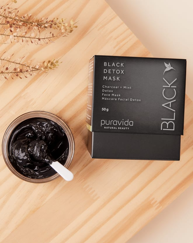 PURAVIDA BLACK DETOX MASK - 50G