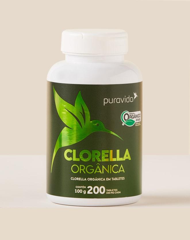 PURAVIDA CLORELLA PREMIUM 200 TABLETES - 100G