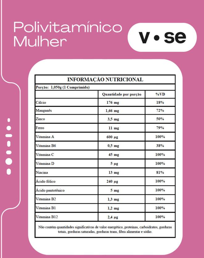 VITAMINE.SE POLIVITAMINICO MULHER - 30 COMP.