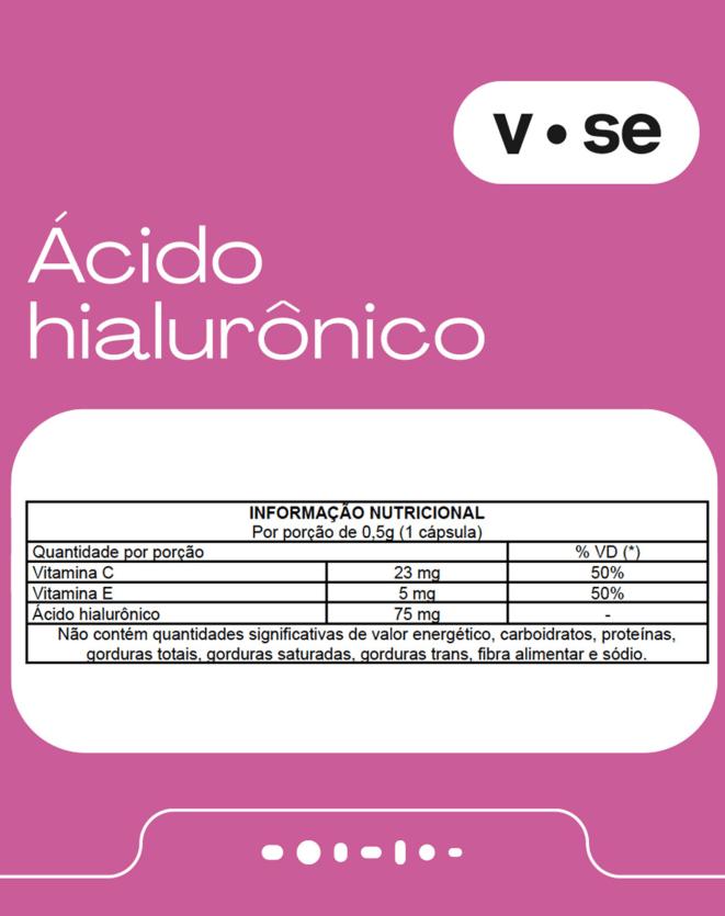 VITAMINE.SE ÁCIDO HIALURONICO 75MG - 30 CAPS.