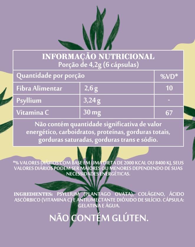 SIMPLES&SAUDÁVEL LIPOFLEX PSYLLIUM - 60 CÁPSULAS