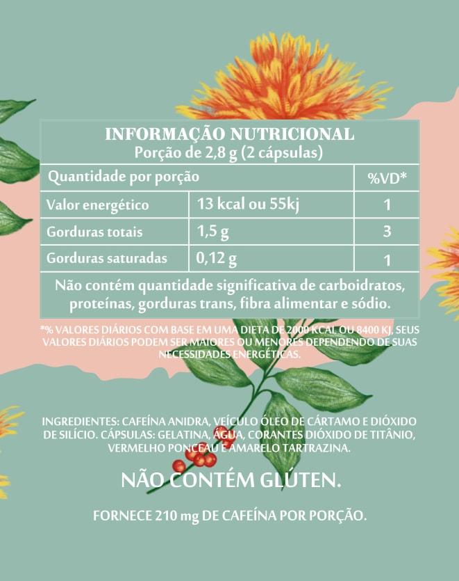 SIMPLES&SAUDÁVEL LIPOFLEX CAFEÍNA PRÉ TREINO - 60 CÁPSULAS