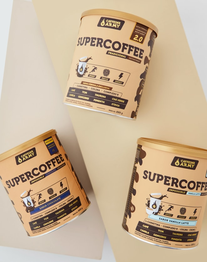 CAFFEINE ARMY SUPERCOFFEE VANILLA LATTE - 220G