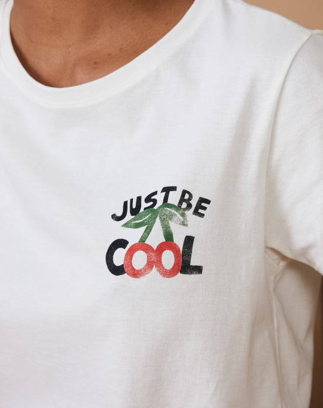 T-SHIRT SLIM JUST BE COOL