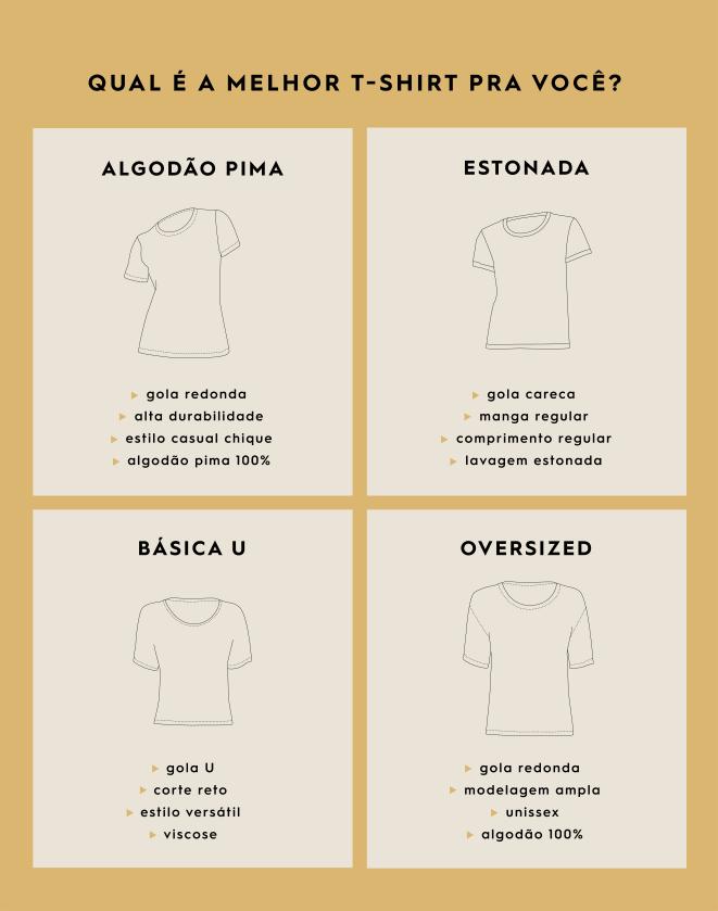 T-SHIRT OVERSIZED ESTONADA GOLA REDONDA