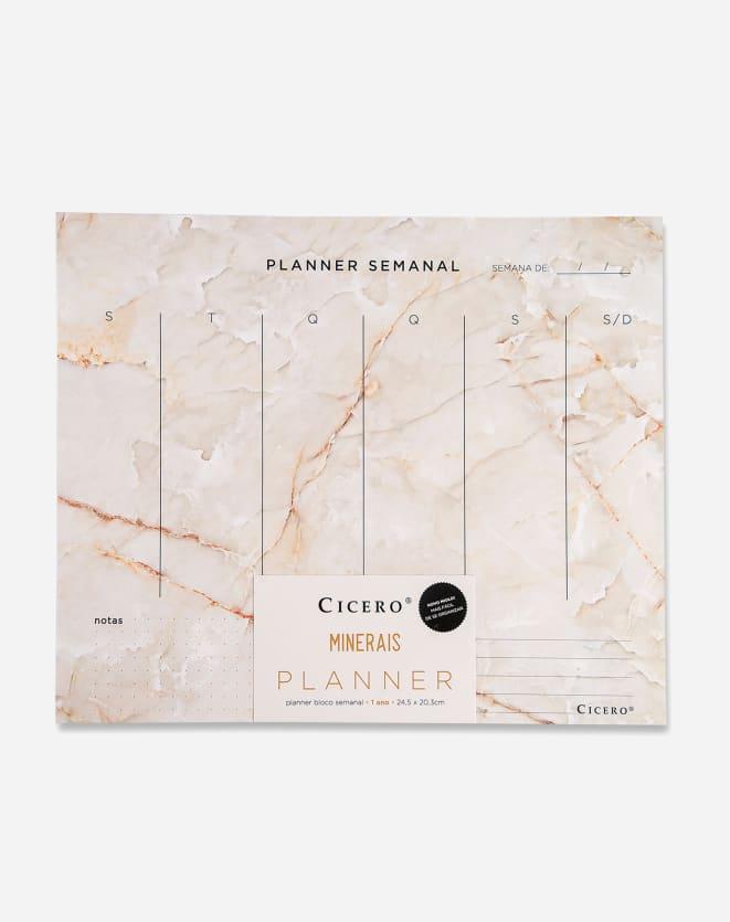 CICERO PLANNER BLOCO SEMANAL 24,5X20,3