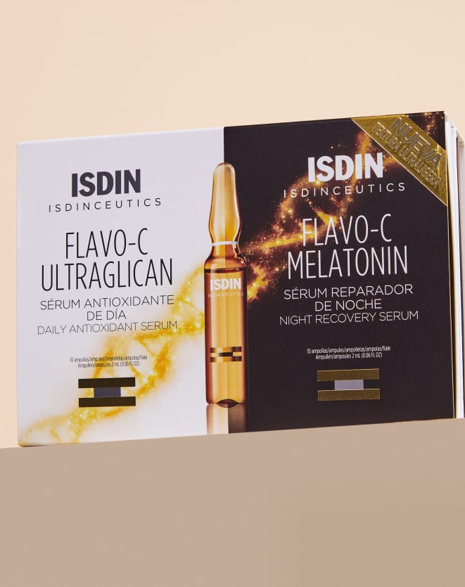 ISDINCEUTICS KIT SÉRUM FACIAL FLAVO C ULTRAGLICAN + SÉRUM FACIAL FLAVO C MELATONIN DAY & NIGHT 20 U