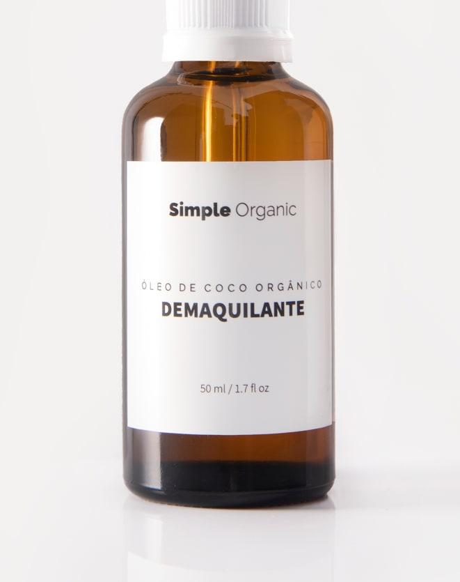 SIMPLE ORGANIC DEMAQUILANTE ÓLEO DE CÔCO