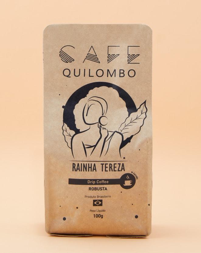 CAFÉ QUILOMBO DRIP COFFEE RAINHA TEREZA - 10 UNIDADES