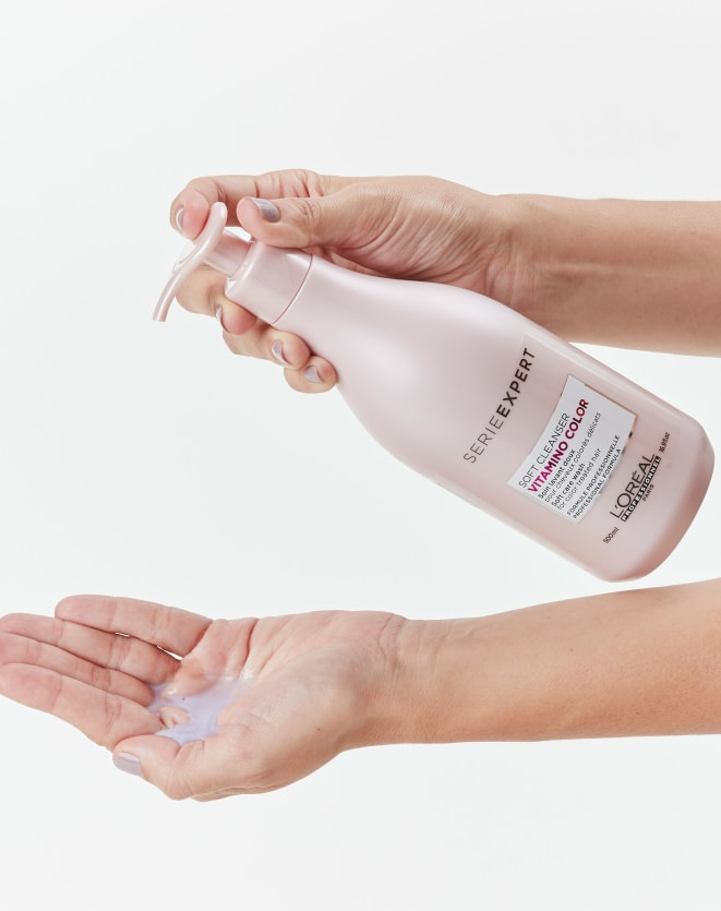 L'OREAL PROFESSIONNEL SHAMPOO SOFT CLEANSER SERIE EXPERT VITAMINO COLOR - 500ML