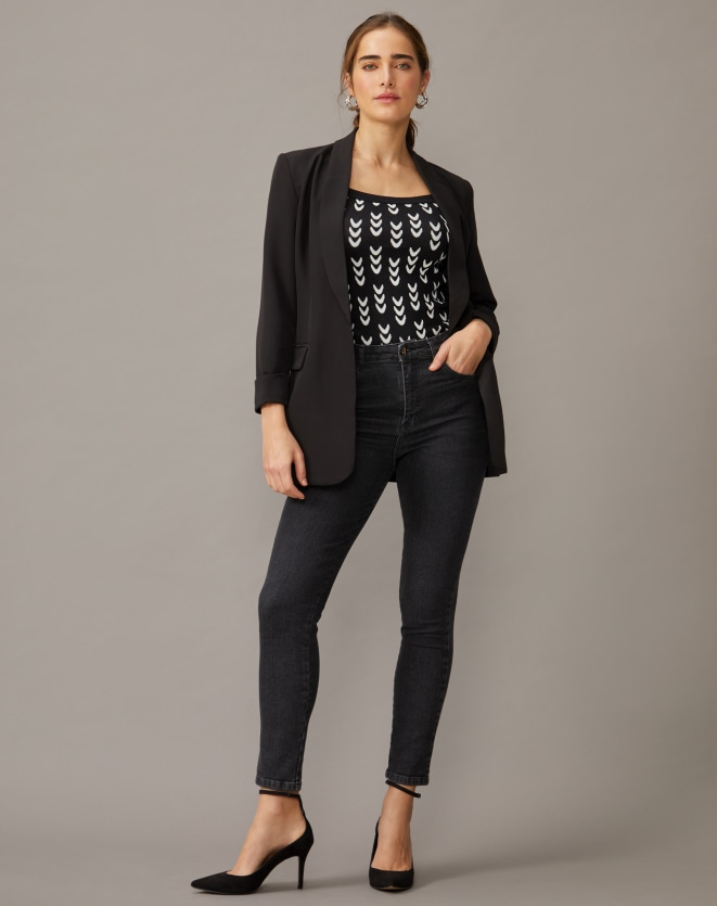 TOP CROPPED TRICOT ETNICO