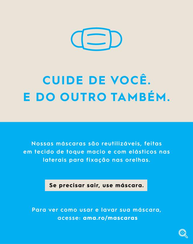 MASCARA TECIDO DE PROTEÇÃO FACIAL JEANS