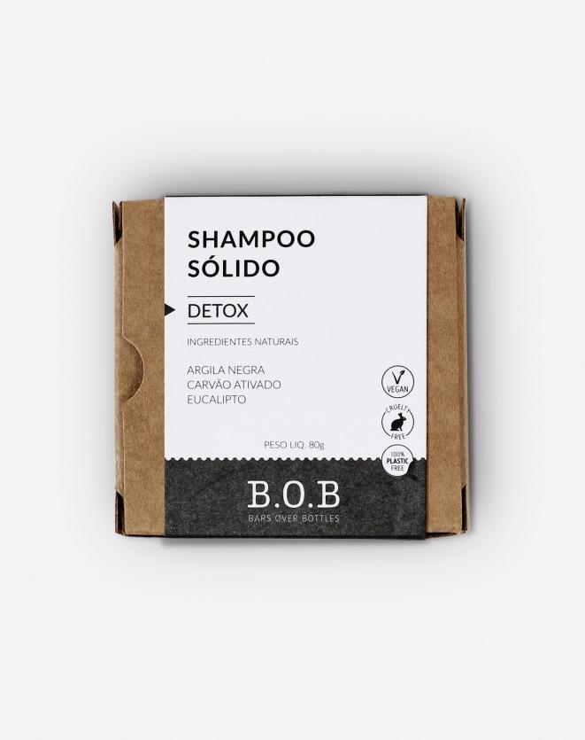 B.O.B SHAMPOO EM BARRA DETOX