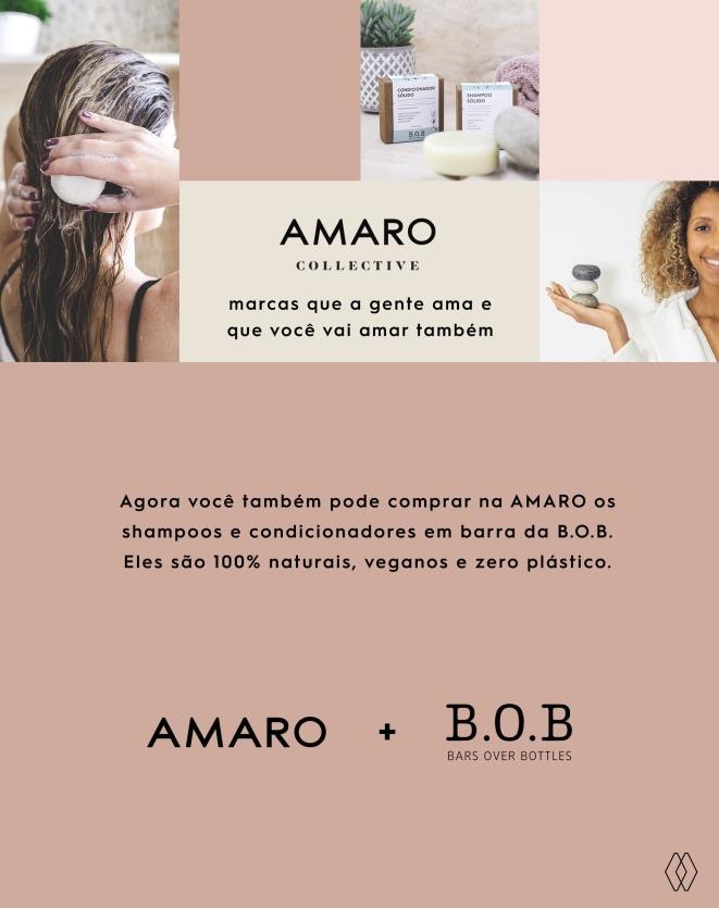 B.O.B KIT SHAMPOO EM BARRA NUTRITIVO & CONDICIONADOR EM BARRA HIDRATAÇÃO PROFUNDA