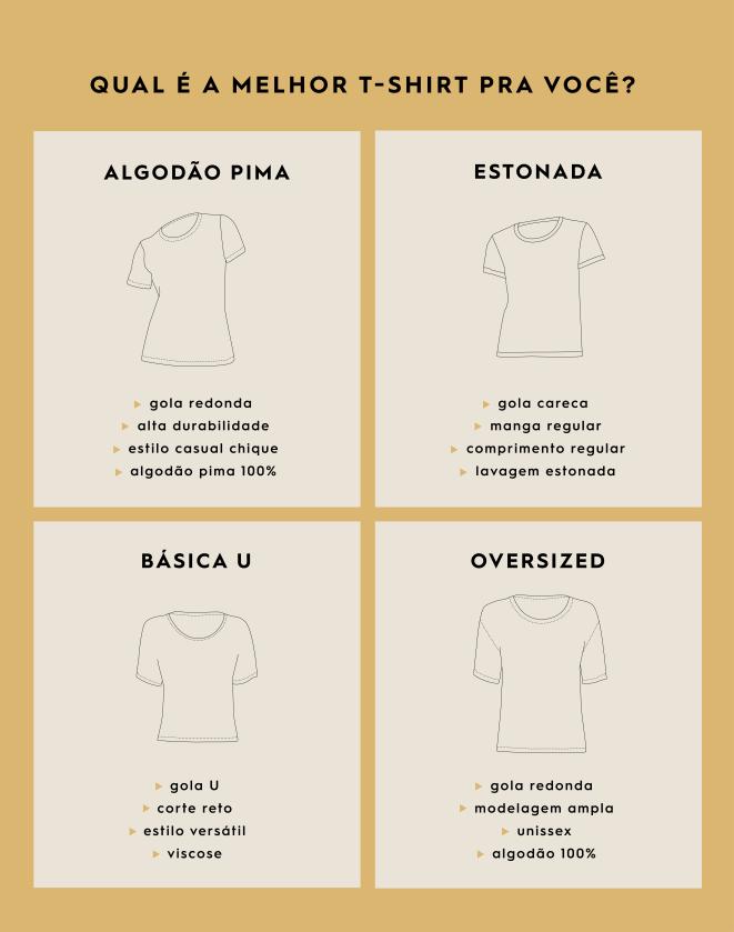 T-SHIRT BÁSICA ESTONADA