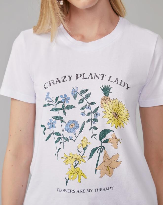 T-SHIRT CRAZY PLANT LADY