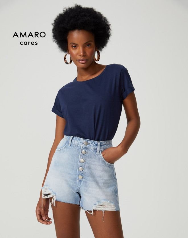 T-SHIRT CROPPED SUSTENTÁVEL