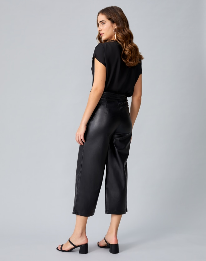 CALÇA LEATHER PANTACOURT
