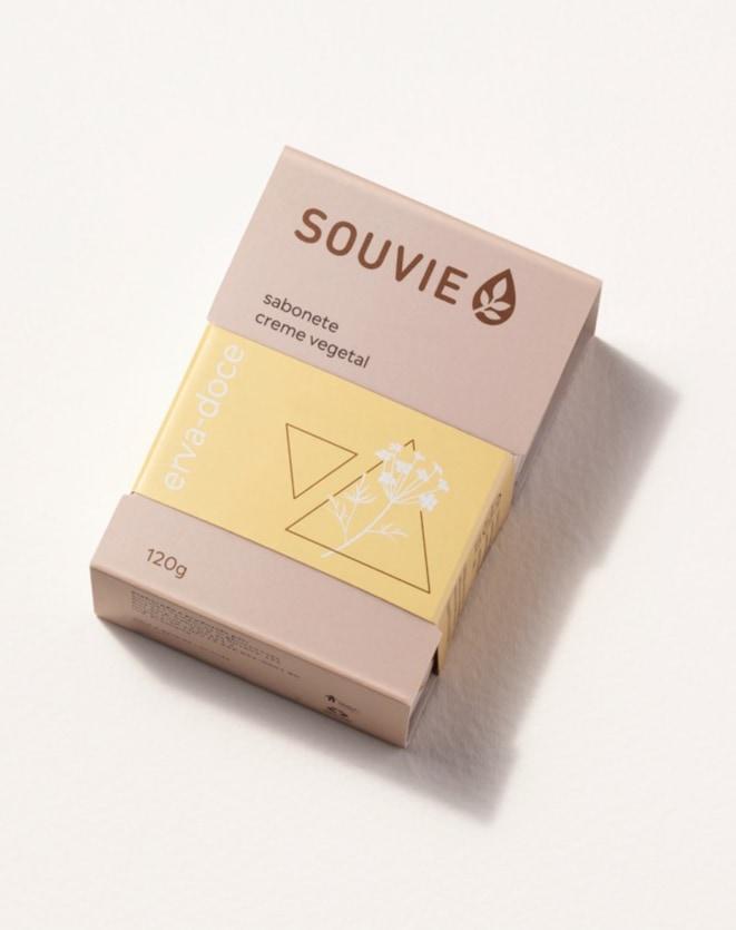 SOUVIE SABONETE CREME VEGETAL  - 120G